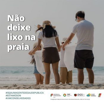 Não deixe lixo na praia